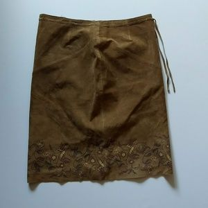 Express Suede Leather Skirt 7/8